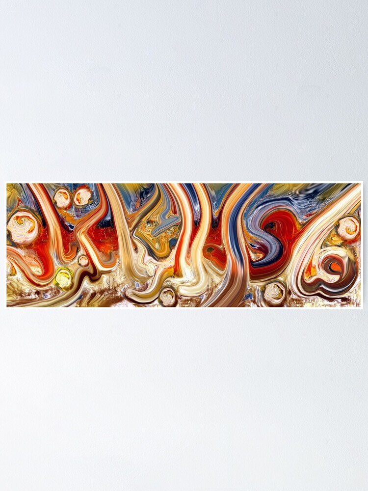 Alternate view of Fabi Ayyi Ala Abstract Painting Poster