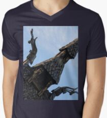 Norse Viking Stave Church from the 1100's Mens V-Neck T-Shirt