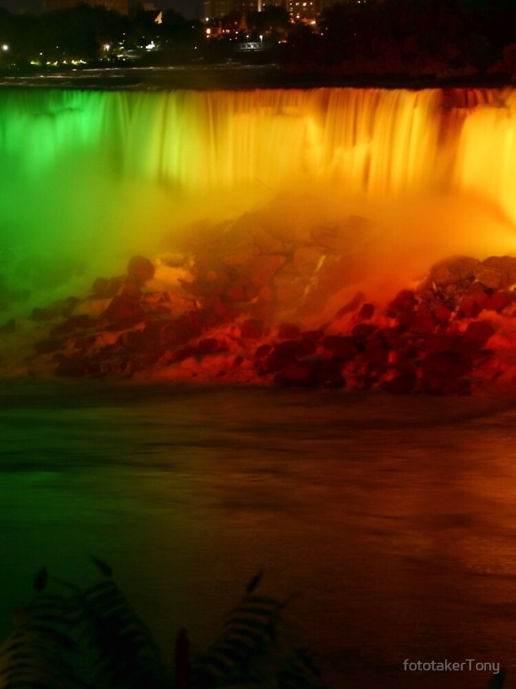 The Rainbow-Colored American Falls by fototakerTony