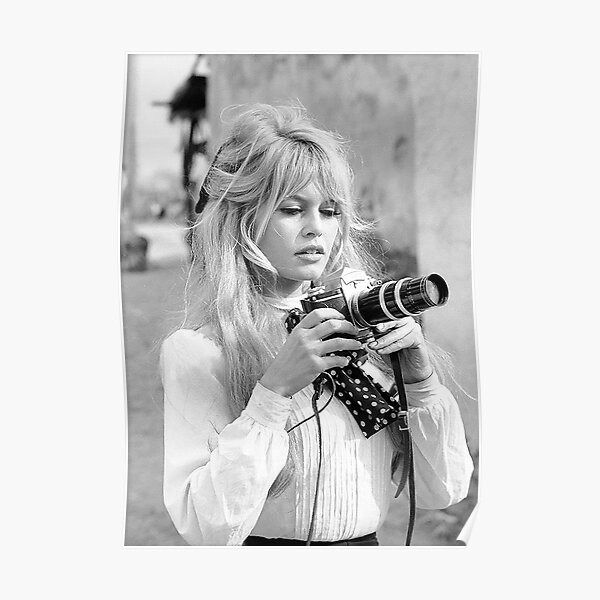 Brigitte Bardot Smoking Poster