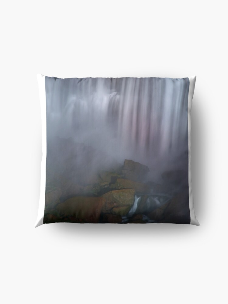 Alternate view of Rocky Watery American Falls  Floor Pillow