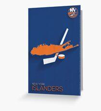 New York Islanders Minimalist Print Greeting Card