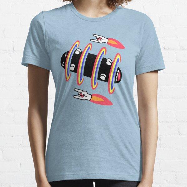 flipped skateboard and rad rockets Essential T-Shirt