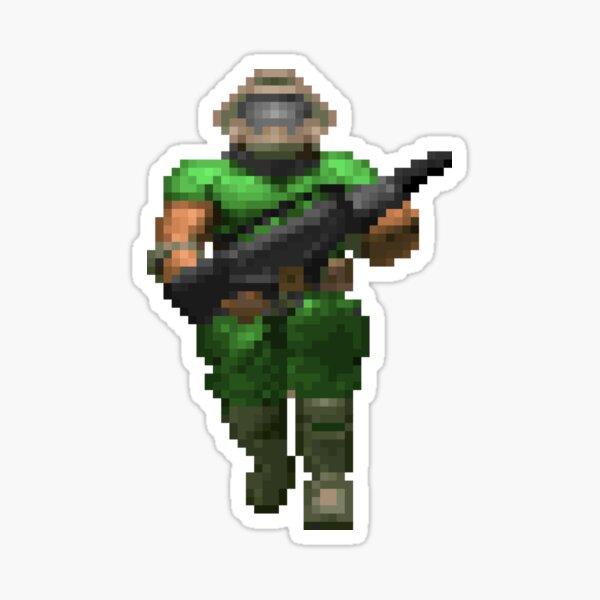 Doom - Retro - Doom Guy Sticker