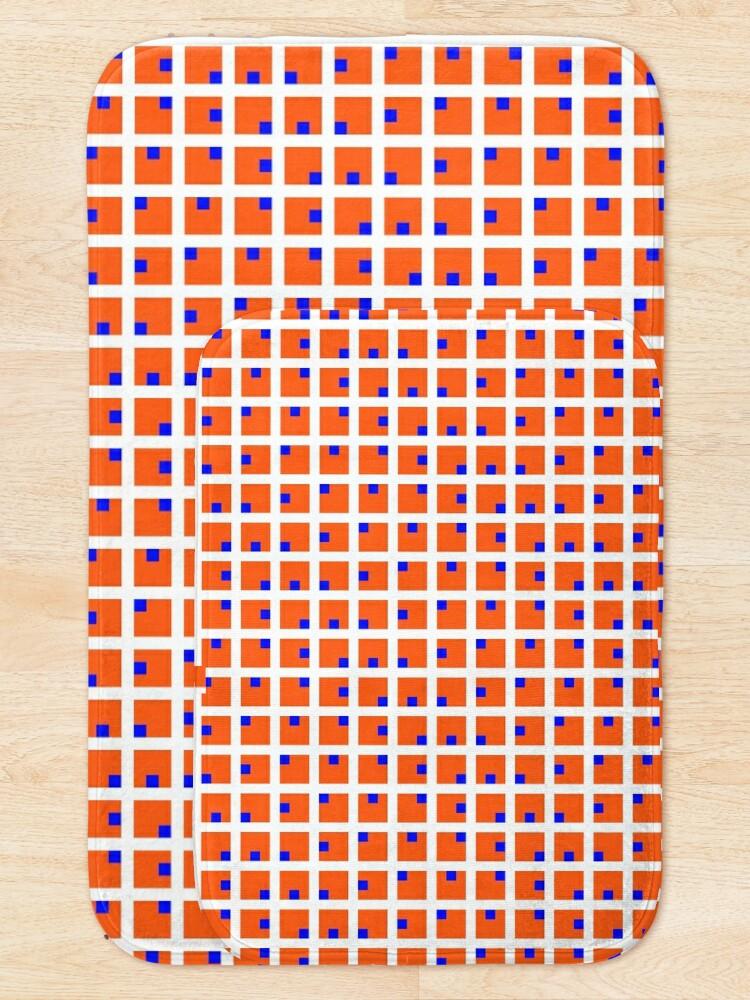 Alternate view of #Grid, #pattern, #design, #square, abstract, mosaic, tile, illustration, art Bath Mat