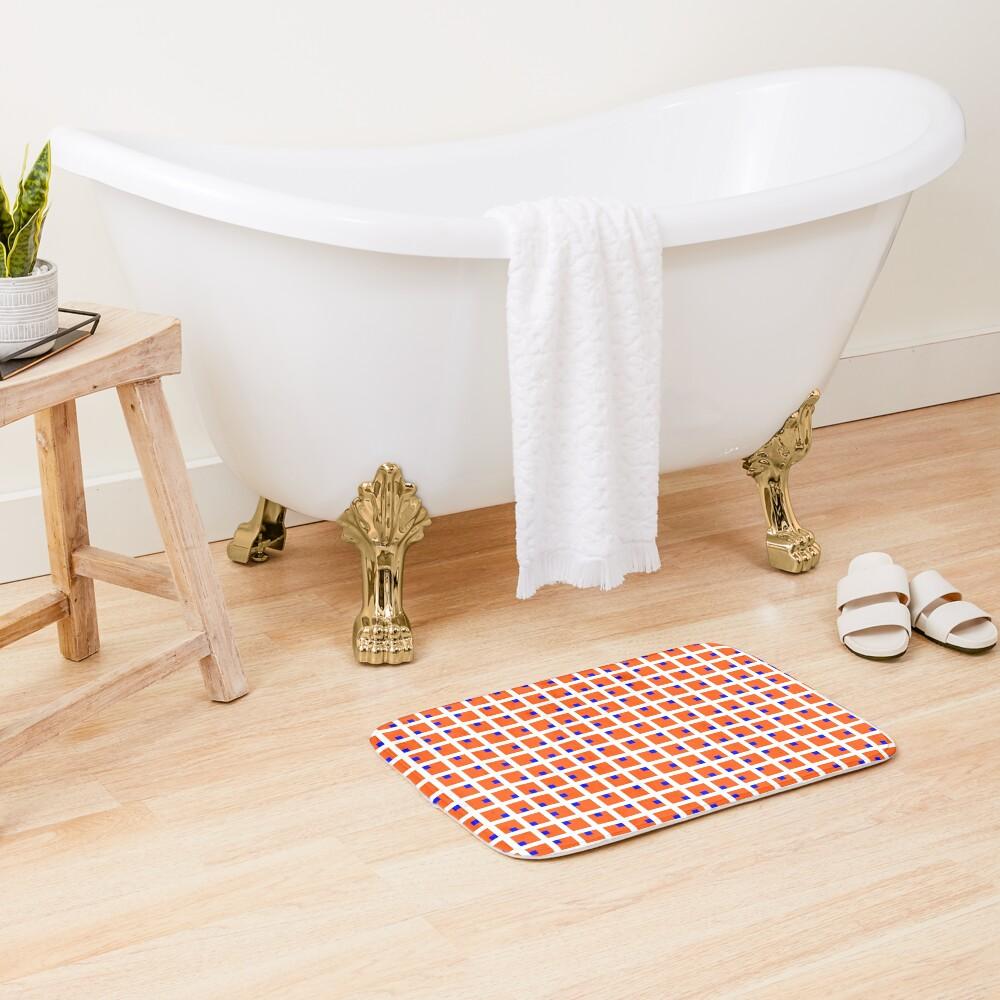 #Grid, #pattern, #design, #square, abstract, mosaic, tile, illustration, art Bath Mat