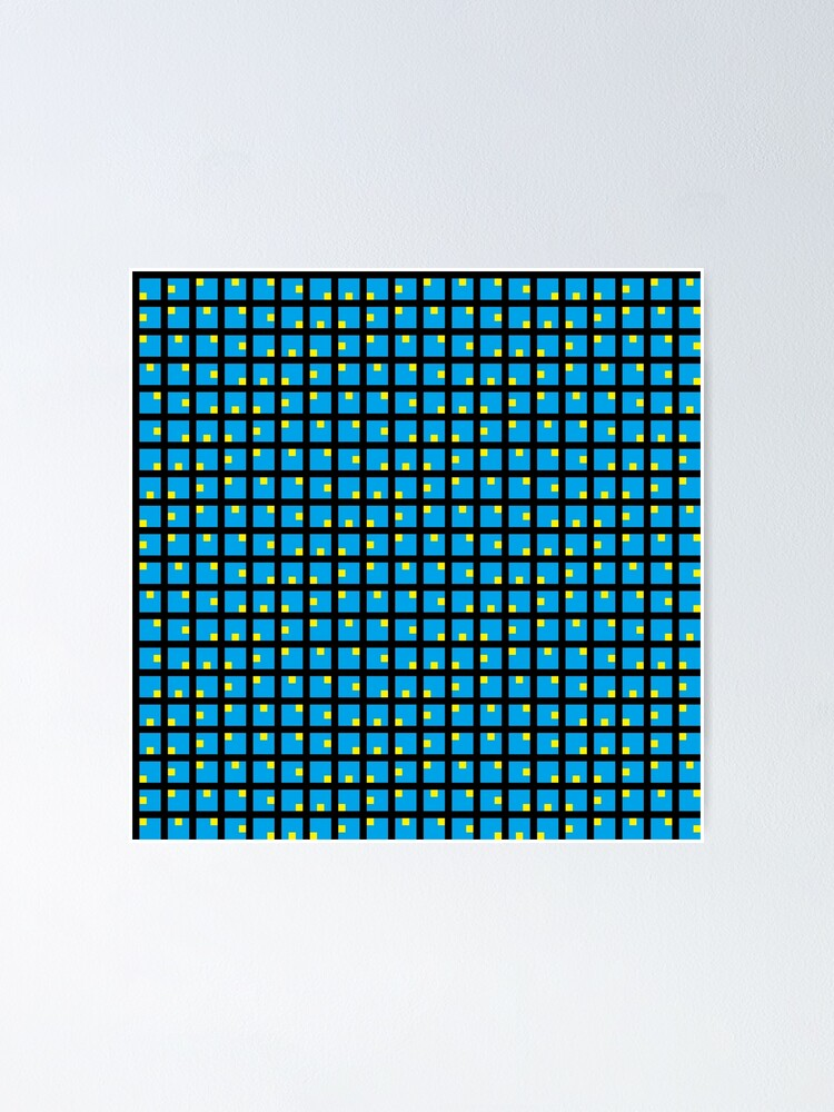 Alternate view of #Grid, #pattern, #design, #square, abstract, mosaic, tile, illustration, art Poster