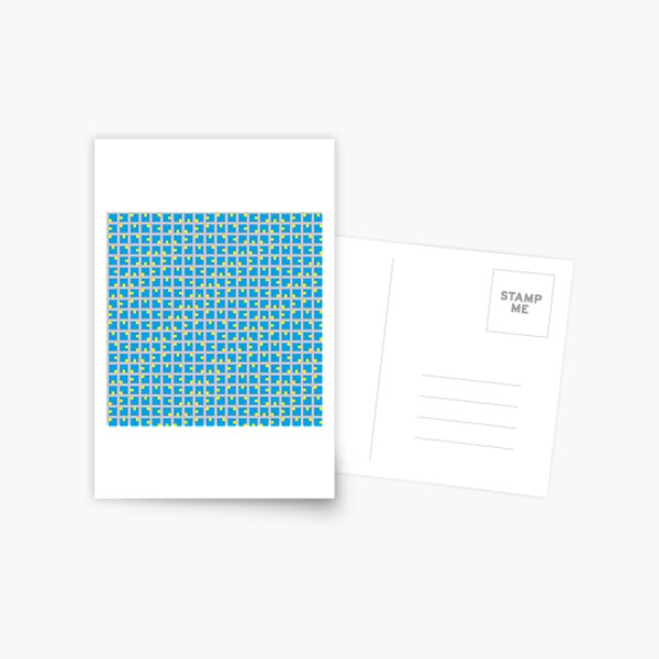 #Grid, #pattern, #design, #square, abstract, mosaic, tile, illustration, art Postcard
