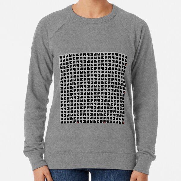 #Grid, #pattern, #design, #square, abstract, mosaic, tile, illustration, art Lightweight Sweatshirt