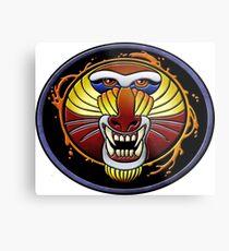 clan fire mandrill Metal Print