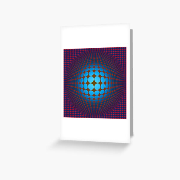 Victor Vasarely Homage Greeting Card