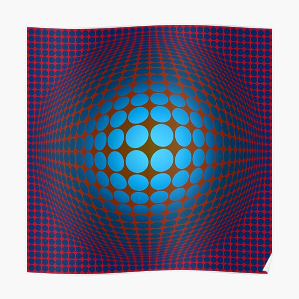 Victor Vasarely Homage Poster