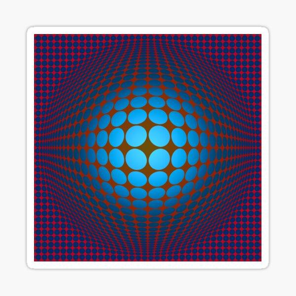 Victor Vasarely Hommage Sticker