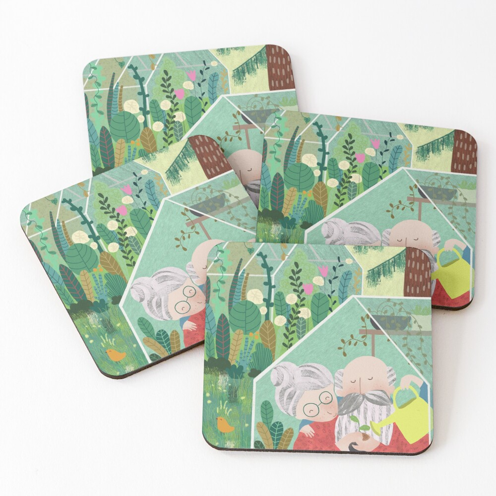 Grandpa's greenhouse Coasters (Set of 4)