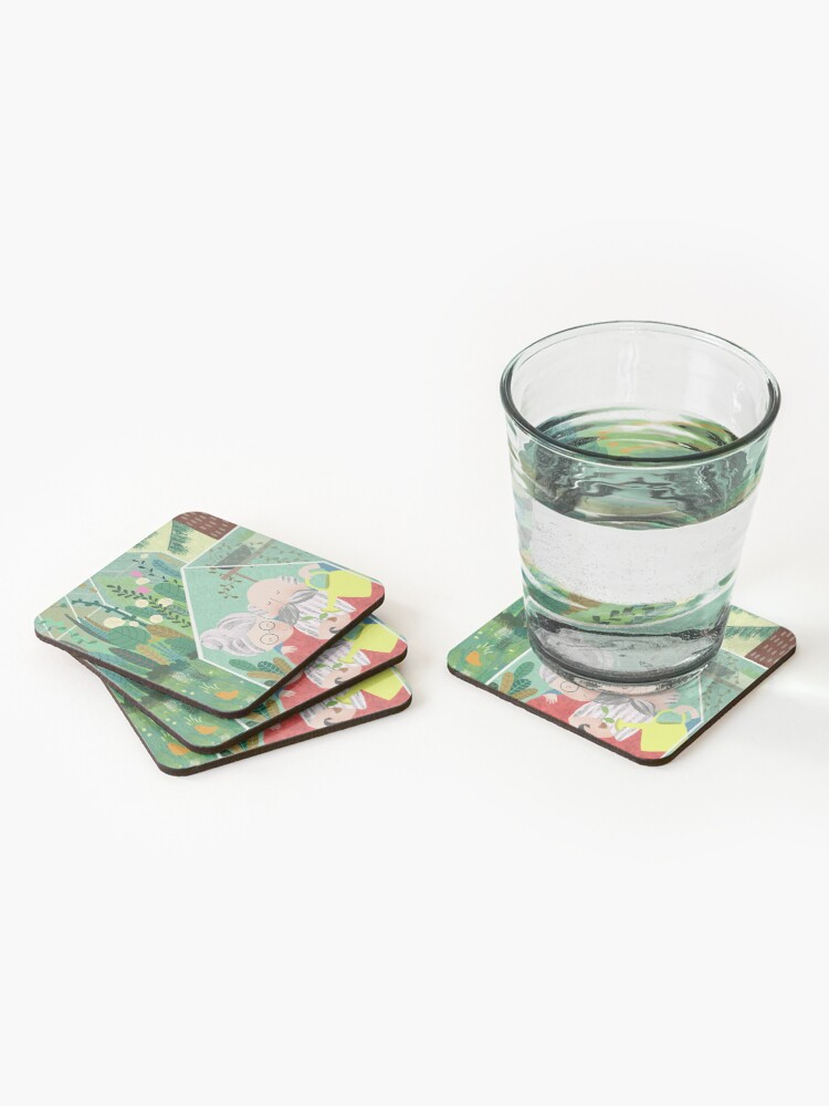 Alternate view of Grandpa's greenhouse Coasters (Set of 4)