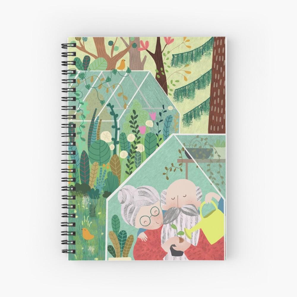 Grandpa's greenhouse Spiral Notebook