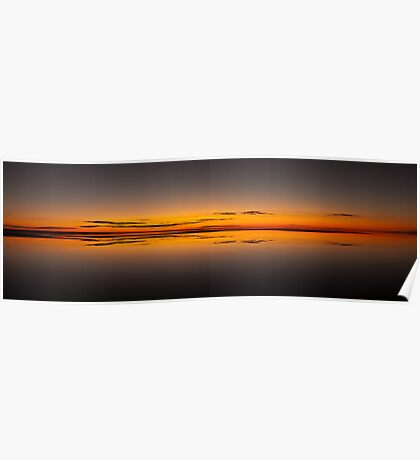 Infinity reflections - Lake Eyre Poster