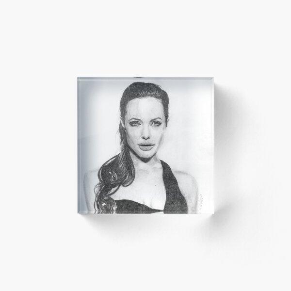 Angelina Jolie Acrylic Block