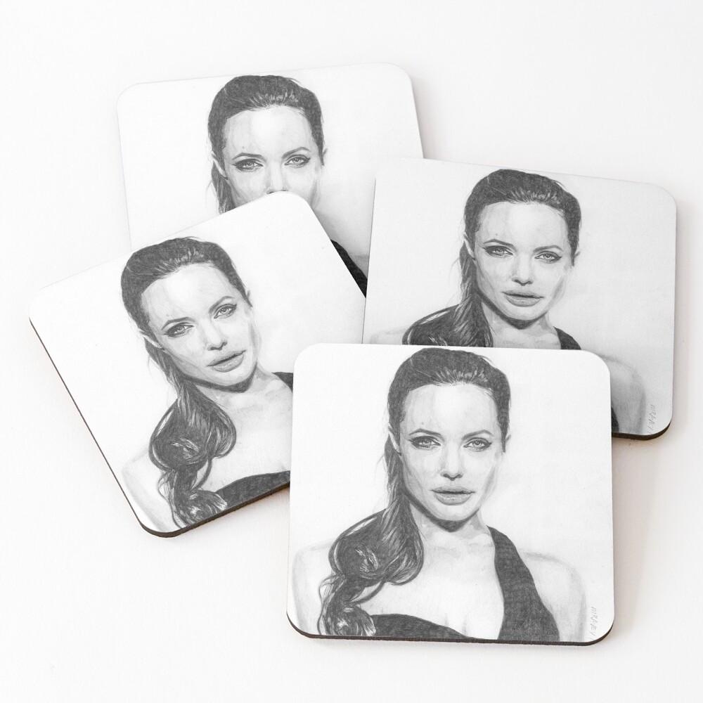 Angelina Jolie Coasters (Set of 4)