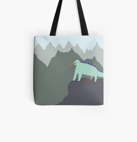 Happy Dragon All Over Print Tote Bag