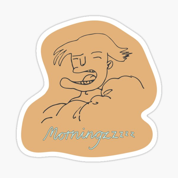 doodles of morning people #2 Sticker