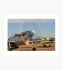 Mustang ready for action! Art Print