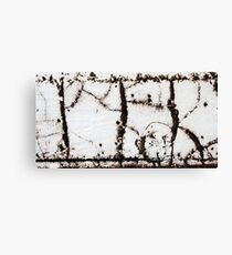 calligraphy - of the grunge type Canvas Print