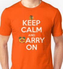 Keep Calm Carry On Blackhawks Unisex T-Shirt