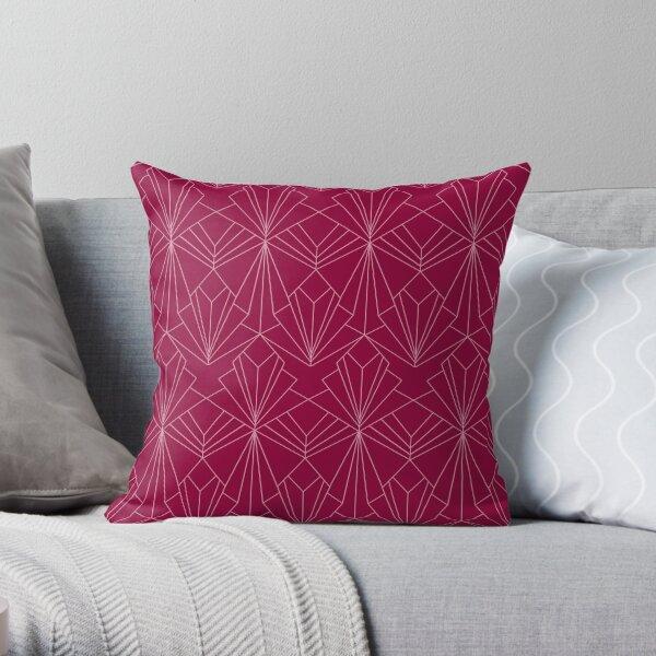 Art Deco in Raspberry Pink Throw Pillow