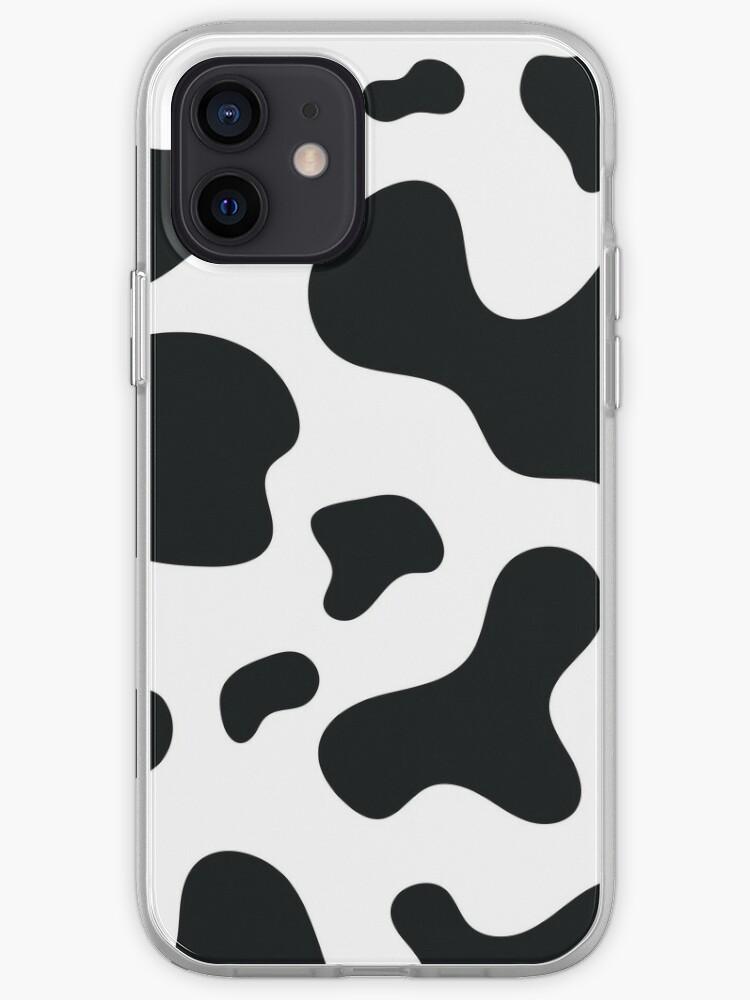 Peau de vache, fourrure à pois, animaux de ferme, modèle | Coque iPhone