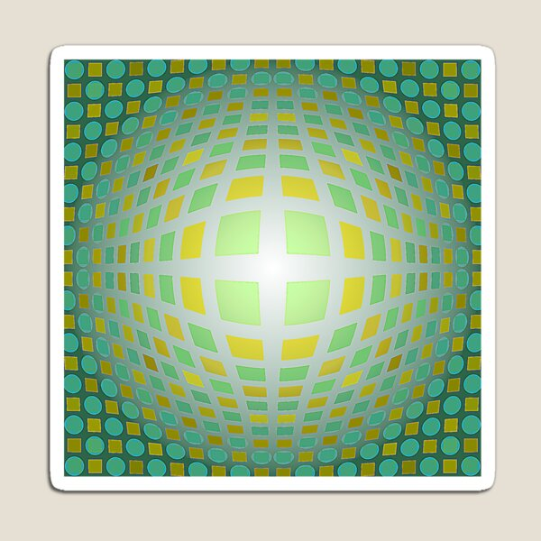 Victor Vasarely Homage 3 Magnet