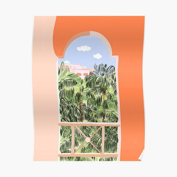 Summer Travel #illustration #tropical Poster