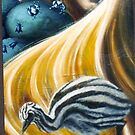 The life of my hair, oil on canvas, 2004. by fiona vermeeren