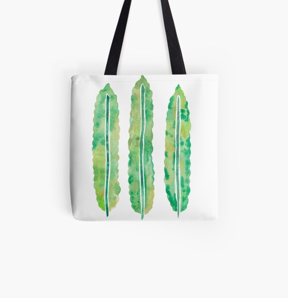 Crispy Wave Fern Leaves All Over Print Tote Bag