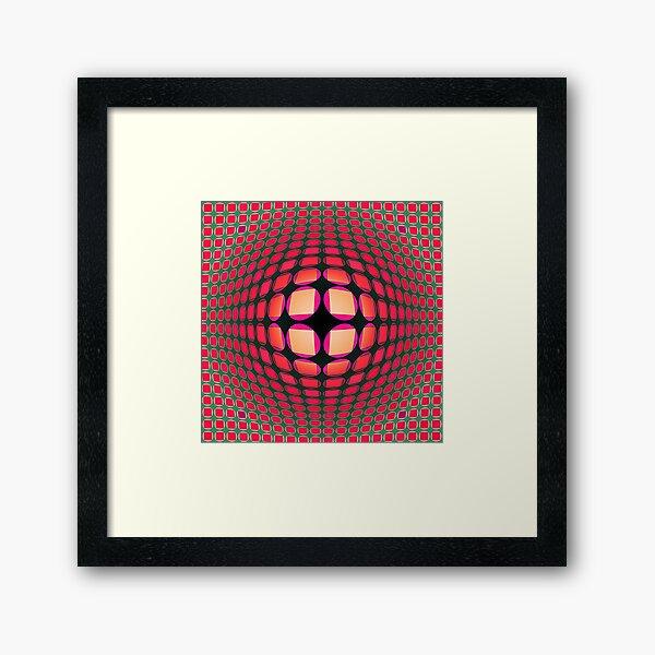 Victor Vasarely Homage 4 Framed Art Print
