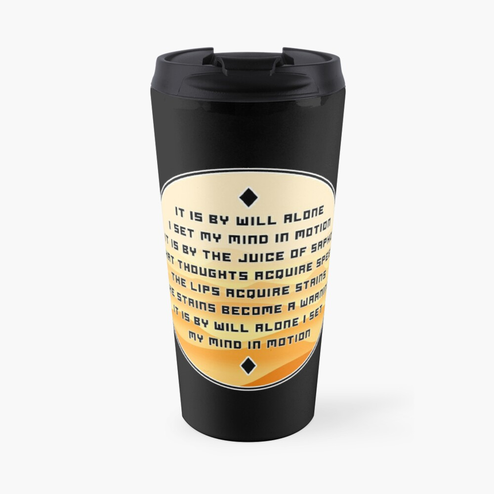 The Mentat Mantra - Inspired by Dune Travel Mug