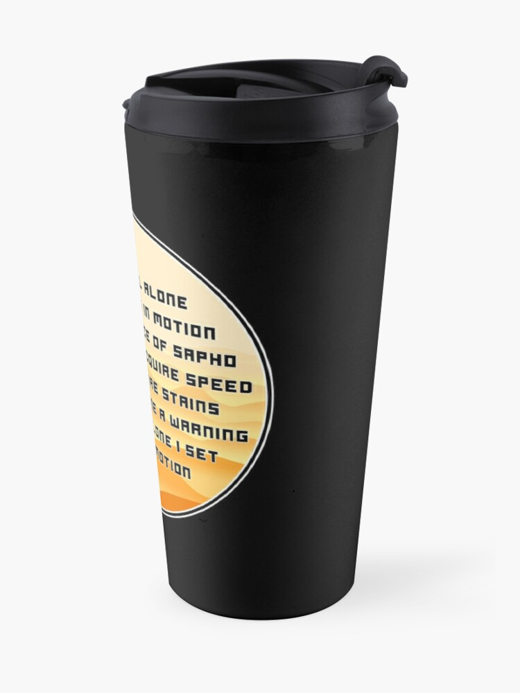 Alternate view of The Mentat Mantra - Inspired by Dune Travel Mug