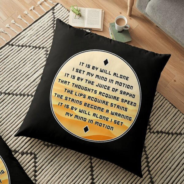 The Mentat Mantra - Inspired by Dune Floor Pillow