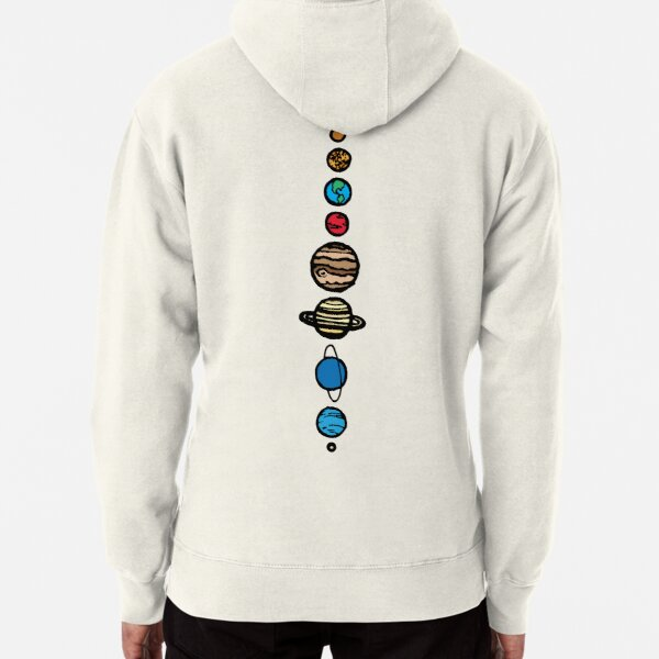 Planets Colour Back Pullover Hoodie