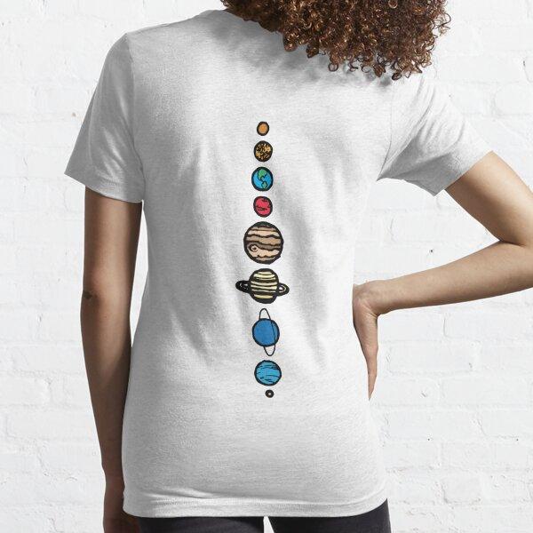 Planets Colour Back Essential T-Shirt