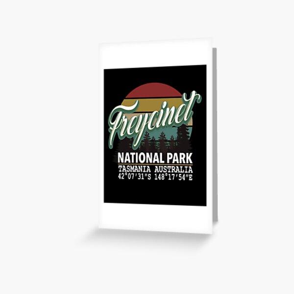 Freycinet National Park with GPS Location Western Australia Greeting Card