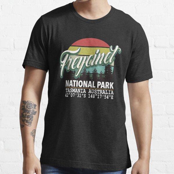 Freycinet National Park with GPS Location Western Australia Essential T-Shirt