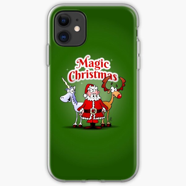 Magic Christmas with a unicorn iPhone Soft Case