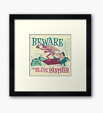 The Blink Panther Framed Print