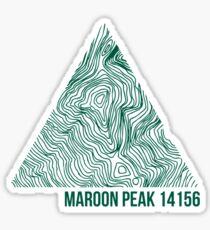 Maroon Peak Topo Sticker
