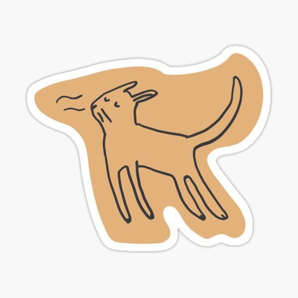 Sniff cat Sticker