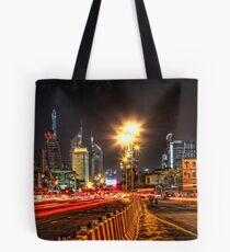 Bustling Nightlife Tote Bag