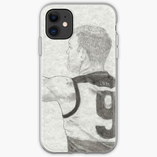 R Gray iPhone Soft Case