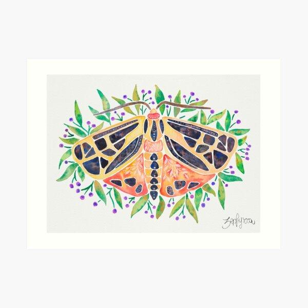 Parthenice Tiger Moth Art Print