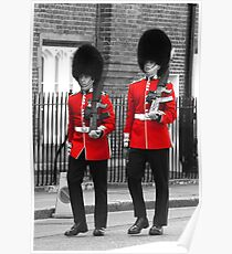 Guardsmen marching in London Poster